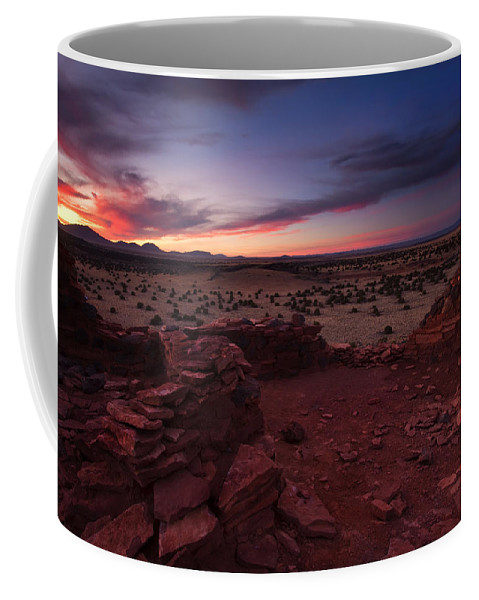 Pueblo Coffee Mug featuring the photograph Citadel Sunset by Mike Dawson