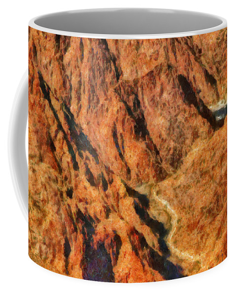 Savad Coffee Mug featuring the photograph City - Arizona - Grand Canyon - A Look Into The Abyss by Mike Savad
