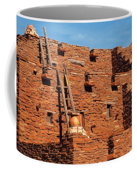 Savad Coffee Mug featuring the photograph City - Arizona - Pueblo by Mike Savad
