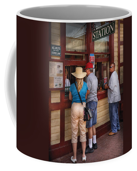 Savad Coffee Mug featuring the photograph City - Lancaster Pa - The Train Station by Mike Savad