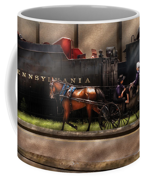 Savad Coffee Mug featuring the photograph City - Lancaster Pa - You Got To Love Lancaster by Mike Savad