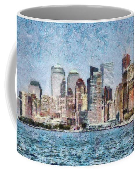 Savad Coffee Mug featuring the photograph City - Ny - Manhattan by Mike Savad