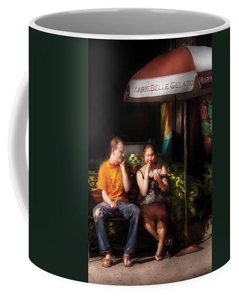 Savad Coffee Mug featuring the photograph City - Ny - Mariebelle Gelato by Mike Savad