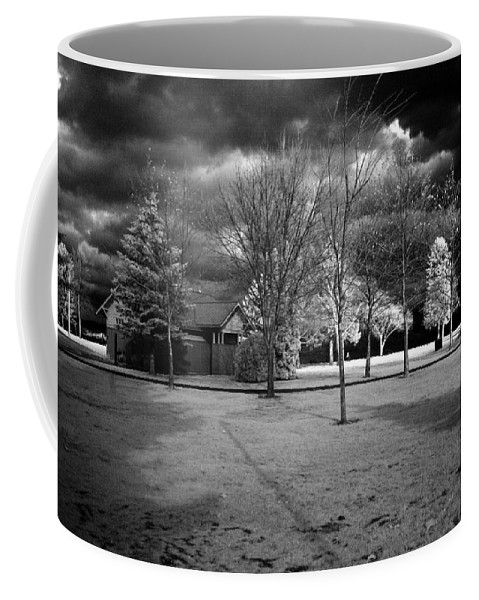 Infrared Coffee Mug featuring the photograph City Beach In Infrared by Lee Santa