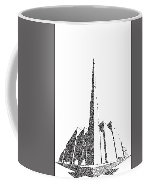 Perspective Coffee Mug featuring the digital art City Block Perspective Stipple by Bigalbaloo Stock