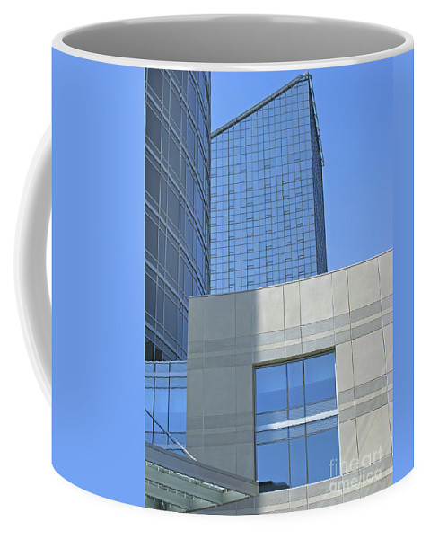 Blue Coffee Mug featuring the photograph City Blues by Ann Horn