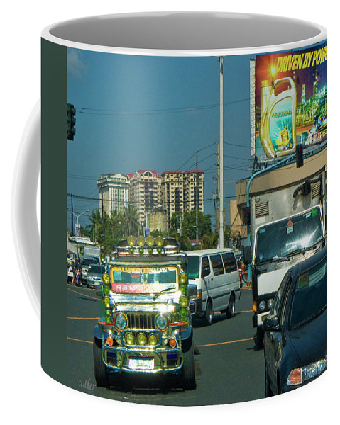 Philippines Coffee Mug featuring the photograph City Driving by Betsy Knapp