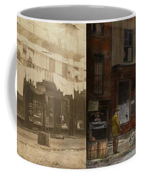 Self Coffee Mug featuring the photograph City - Elegant Apartments - 1912 - Side By Side by Mike Savad