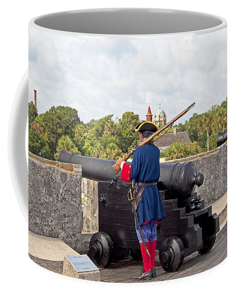 Soldier Coffee Mug featuring the photograph City Guard by Kenneth Albin