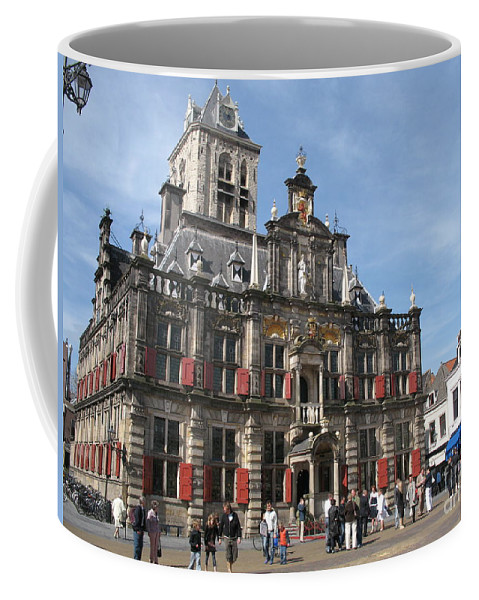City Hall Coffee Mug featuring the photograph City Hall - Delft - Netherlands by Christiane Schulze Art And Photography
