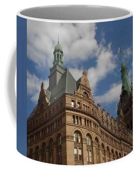Milwaukee Coffee Mug featuring the photograph City Hall Roof And Tower by Anita Burgermeister