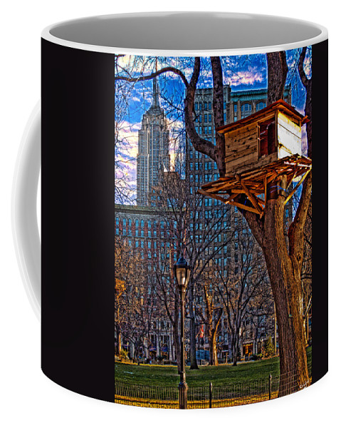 Hdr Coffee Mug featuring the photograph City Housing by Chris Lord