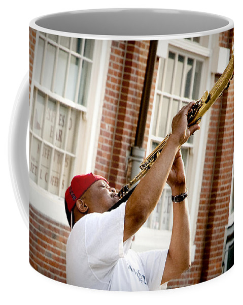 Jazz Coffee Mug featuring the photograph City Jazz by Greg Fortier