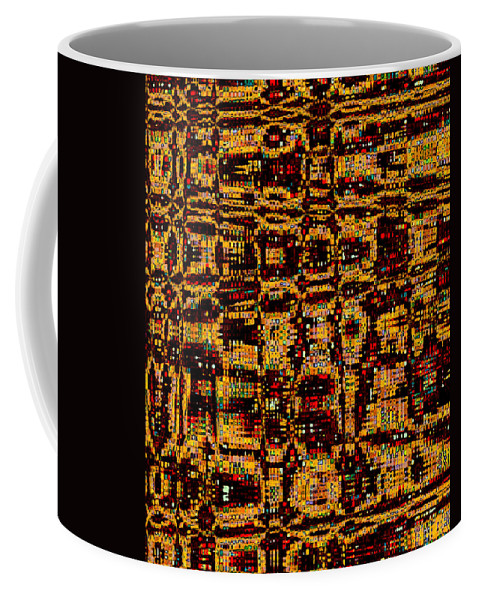 Coffee Mug featuring the digital art City Lights by Ruth Palmer