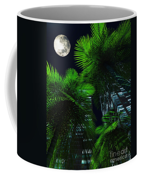 Tropics Coffee Mug featuring the digital art City Nights by Richard Rizzo