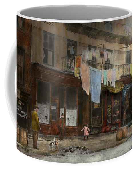 Self Coffee Mug featuring the photograph City - Ny - Elegant Apartments - 1912 by Mike Savad