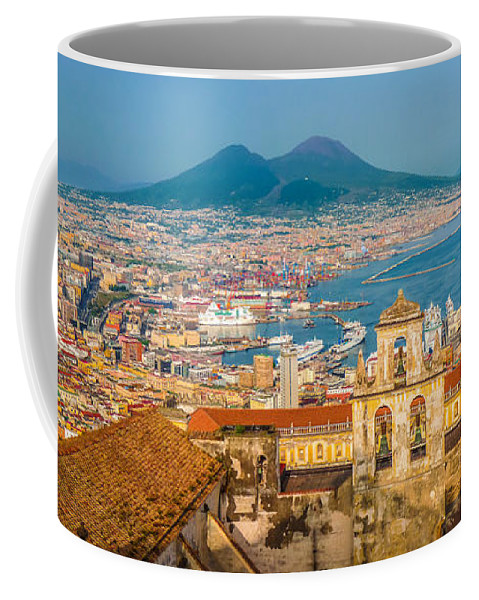 Pompeii Coffee Mug featuring the photograph City Of Naples With Mt. Vesuvius by JR Photography