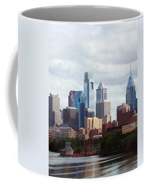 Philadelphia Coffee Mug featuring the photograph City of Philadelphia by Linda Sannuti