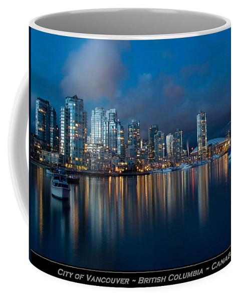 Vancouver Coffee Mug featuring the photograph City Of Vancouver British Columbia Canada by Movie Poster Prints