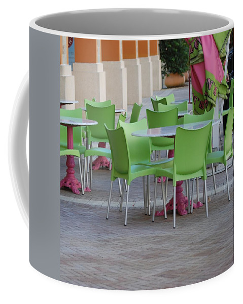 Chairs Coffee Mug featuring the photograph City Place Seats by Rob Hans