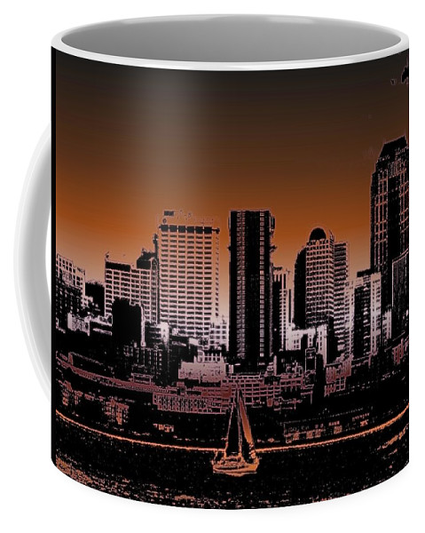 Seattle Coffee Mug featuring the photograph City Sailin 2 by Tim Allen
