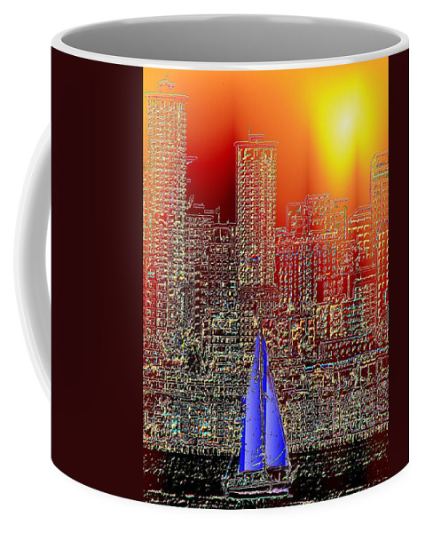 Seattle Coffee Mug featuring the photograph City Sailin by Tim Allen