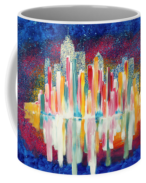 City Coffee Mug featuring the painting City Skyline by Chelsie Ring