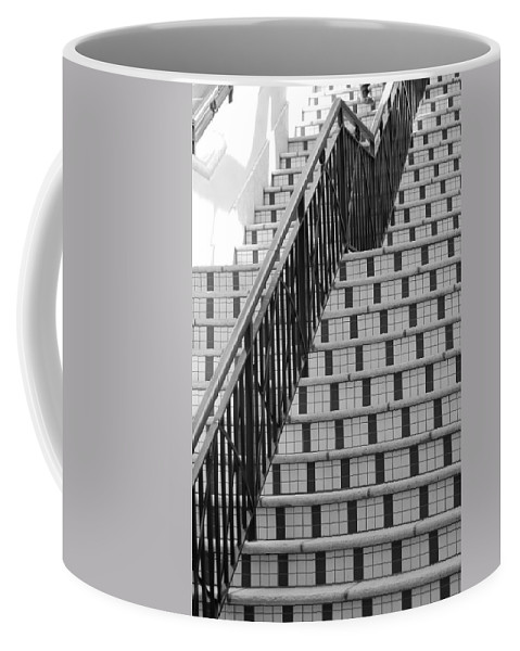 Architecture Coffee Mug featuring the photograph City Stairs II by Rob Hans