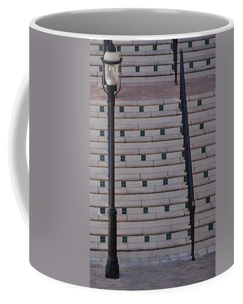 Architecture Coffee Mug featuring the photograph City Stairs by Rob Hans