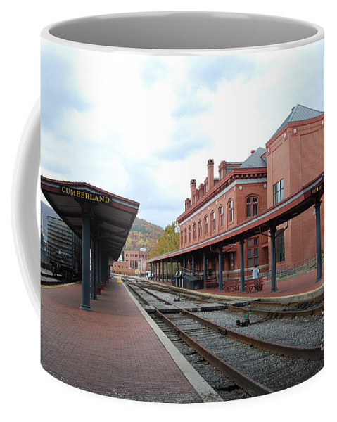 Brick Coffee Mug featuring the photograph City Station by Eric Liller