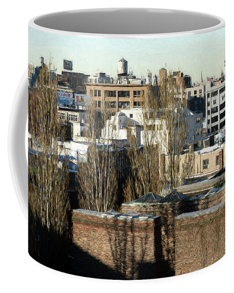 Usa Coffee Mug featuring the photograph Cityscape Queens by Christian Heeb