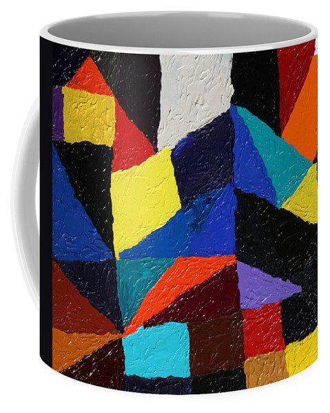 Fusionart Coffee Mug featuring the painting Cityscape by Ralph White