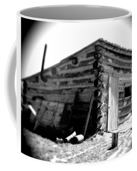 Army Coffee Mug featuring the photograph Civil War Cabin 1 Army Heritage Education Center by Jean Macaluso