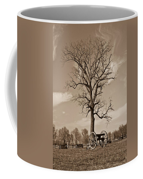 Civil Coffee Mug featuring the photograph Civil War Cannon by Douglas Barnett