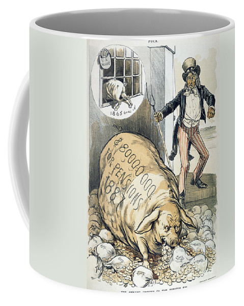 1888 Coffee Mug featuring the photograph Civil War Pensions, 1888 by Granger