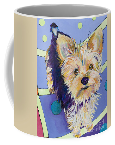 Pet Portraits Coffee Mug featuring the painting Claire by Pat Saunders-White