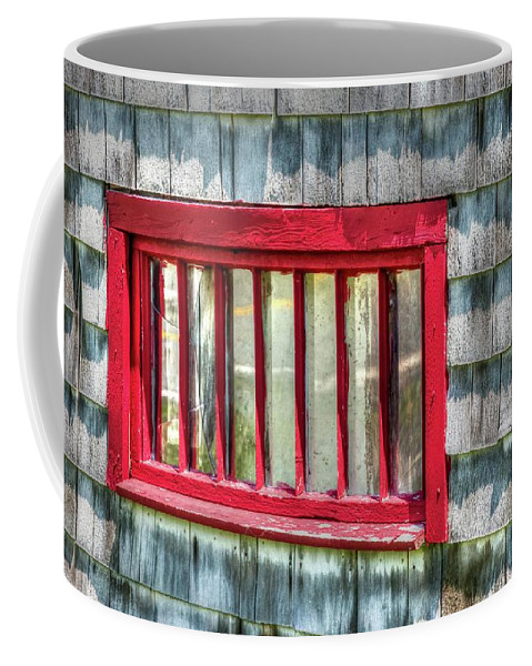 Rustic Coffee Mug featuring the photograph Clapboard Window by Nadine Berg