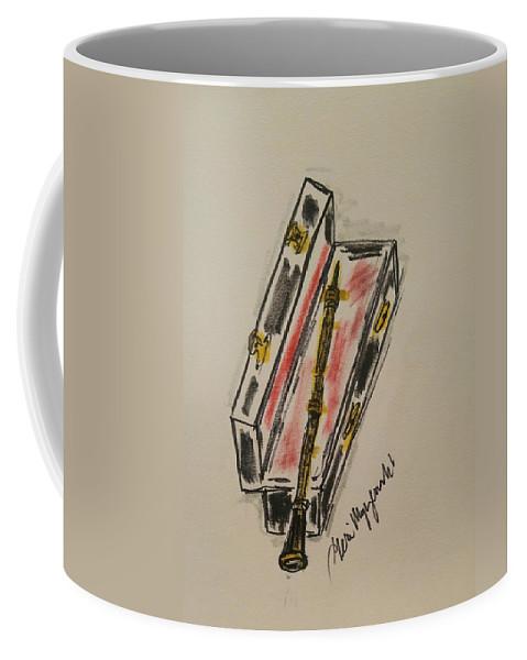 Clarinet Coffee Mug featuring the painting Clarinet by Geraldine Myszenski