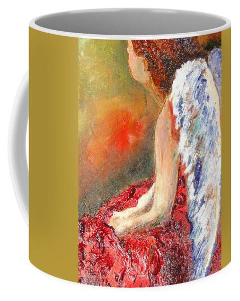 Angels Coffee Mug featuring the painting Clarity Of Thought by J Bauer