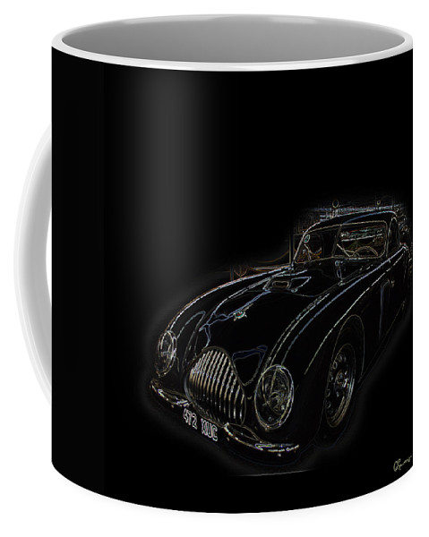 Classic Car Antique Show Room Vehicle Glowing Edge Black Light Chevy Dodge Ford Ride Coffee Mug featuring the photograph Classic 2 by Andrea Lawrence