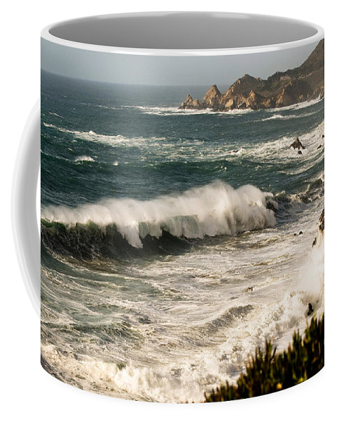 Costal Coffee Mug featuring the photograph Classic California Surf by Norman Andrus