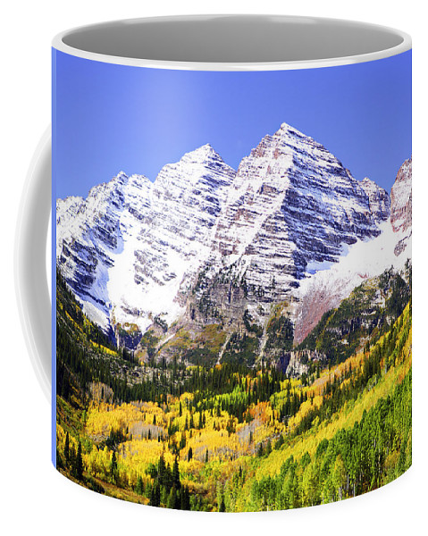 Americana Coffee Mug featuring the photograph Classic Maroon Bells by Marilyn Hunt