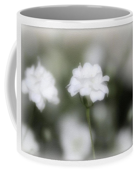 Flowers Coffee Mug featuring the photograph Classic White by Linda Sannuti