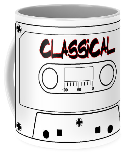 Classical Coffee Mug featuring the digital art Classical Music Tape Cassette by Bigalbaloo Stock