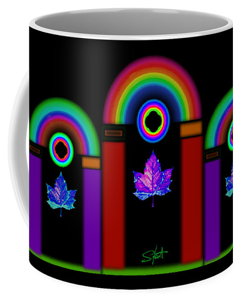 Classical Coffee Mug featuring the painting Classical Neon by Charles Stuart