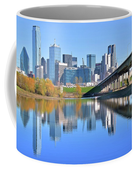 Dallas Coffee Mug featuring the photograph Clear Blue Dallas by Frozen in Time Fine Art Photography