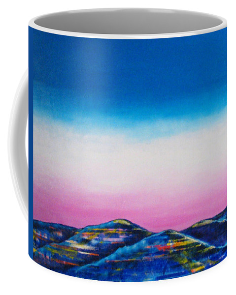 Sky Coffee Mug featuring the painting Clear Day by Rollin Kocsis