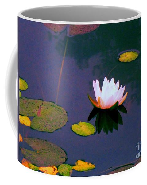 Water Coffee Mug featuring the photograph Clear Reflections Lotus by Sybil Staples