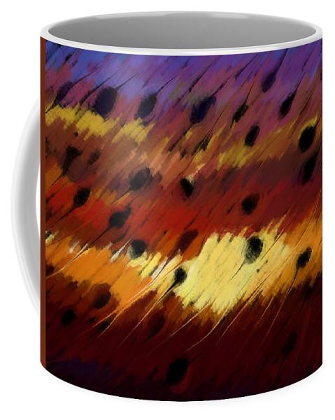 Clear Coffee Mug featuring the digital art Clear Strokes by Linda Busch