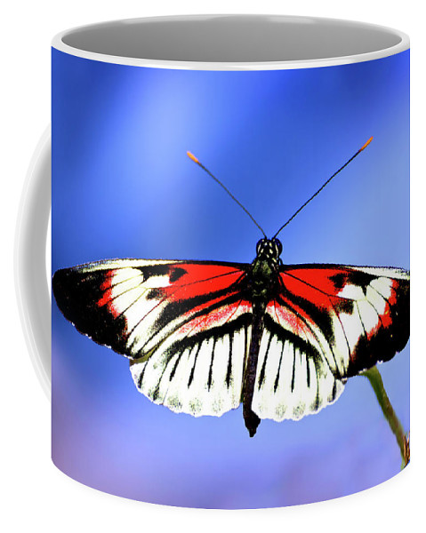 Butterfly Coffee Mug featuring the photograph Cleared For Takeoff by Mark Andrew Thomas
